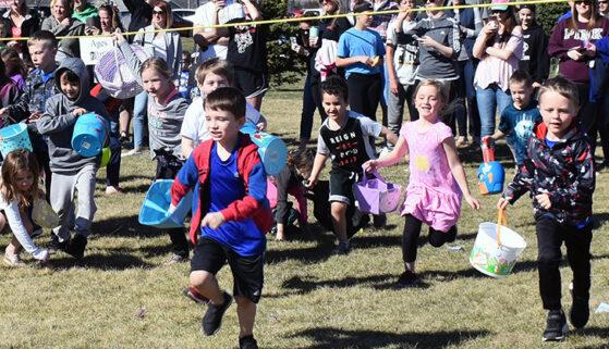 Easter egg hunt in Brandon